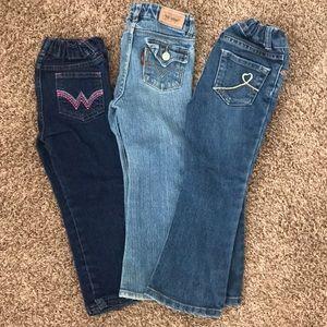 Bundle of 3T jeans